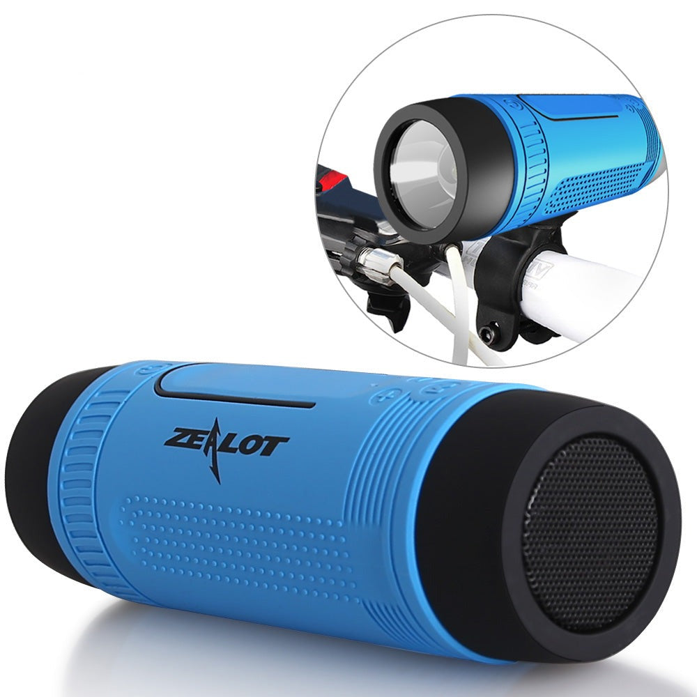 Zealot S1 Wireless Bluetooth Speaker FM radio Outdoor Portable Bicycle Speaker mini Column +Power