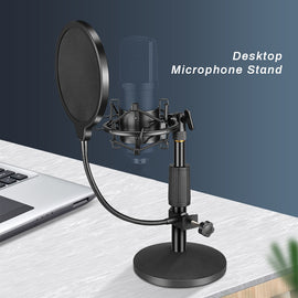BM 800 Condenser Microphone Tabletop Stand Shock Mount Universal USB Computer Microphone Holder