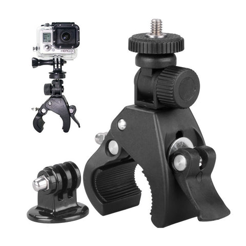 for GoPro mounting accessories motorcycle bike handlebar + camera tripod adapter for Go Pro Hero 6 5