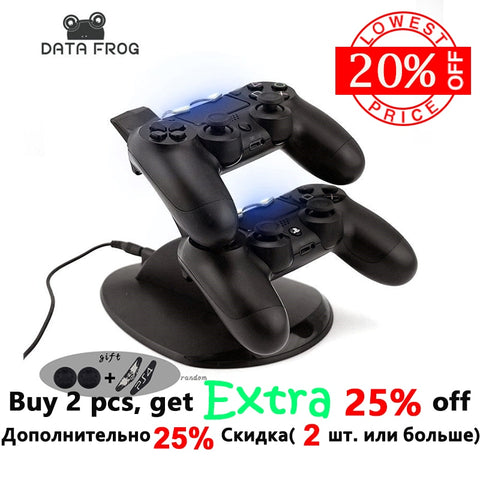 for Sony PS4 Charger Station Stand with Charge Cable for Playstation 4 PS4 Dual Charge Dock for