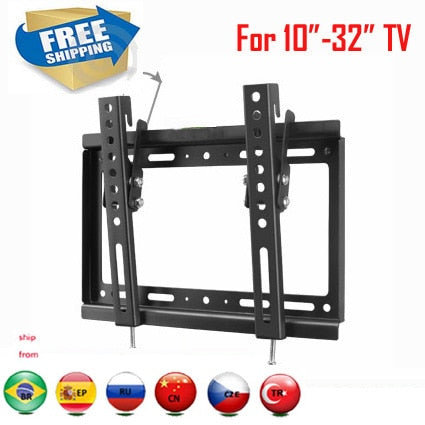 "VESA 200x200 for 10""-32"" tiltable adjustable LCD LED PLASMA tv wall mounted bracket"