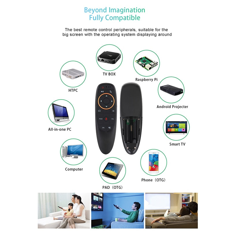 Kebidu G10 G10S Air Mouse Voice Control 2.4G USB Receiver G10s with Gyro Sensing Mini Wireless Smart