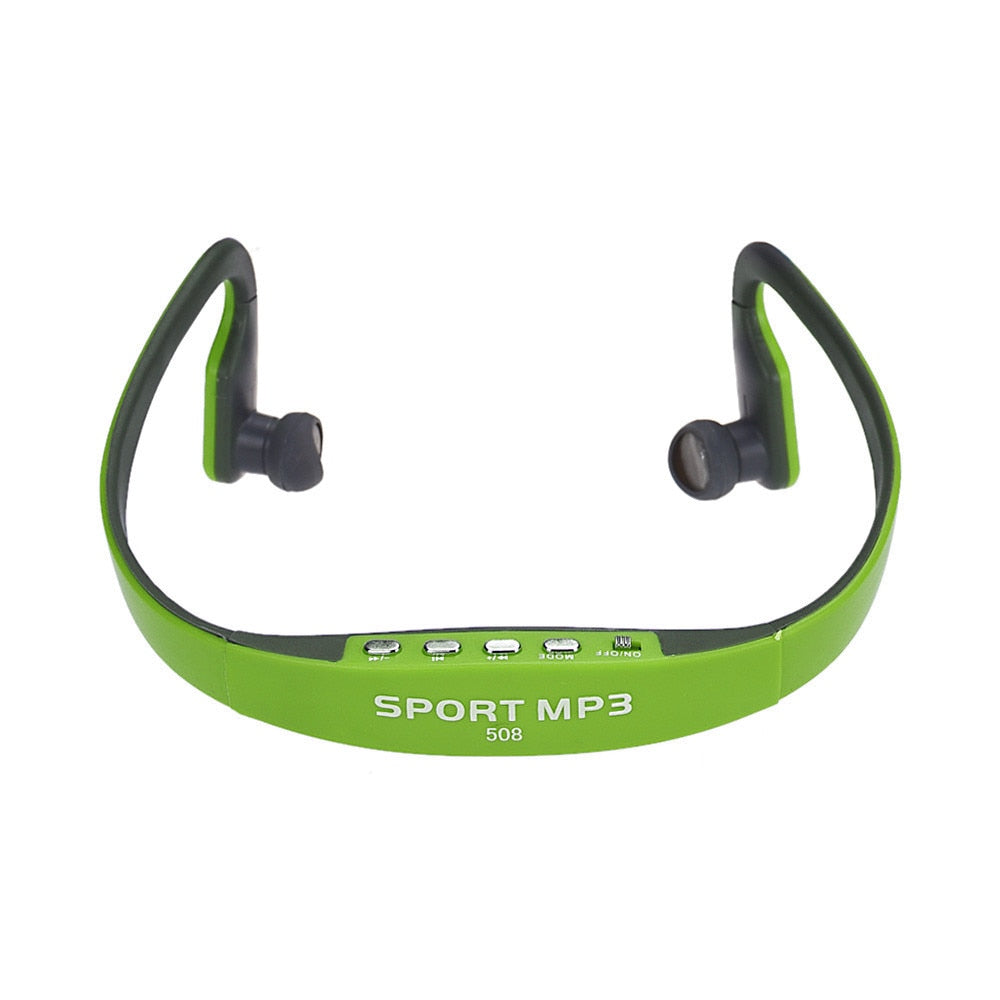 overmal Portable sporty exterior design Wireless Card FM Stereo Radio Function MP3 Sports Headset