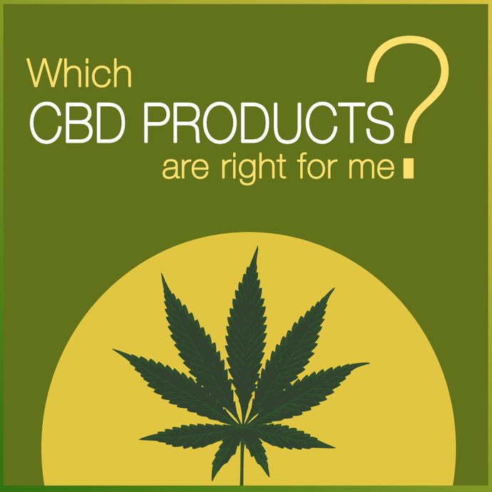 Which CBD Products are right for me?