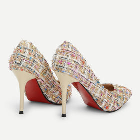 Tweed Stiletto Heels