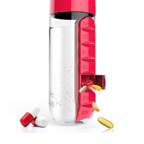 Clear Water Bottle With Medicine Storage Box 700ML
