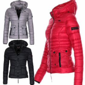 2018 New Fashion Women Cotton Padded Coats Winter Hooded Coats
