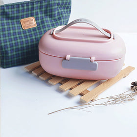 2 Compartment Lunch Box Without Bag