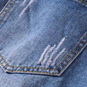 Men Washed Plain Jeans