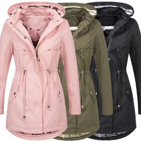 2018 Women Ladies Fashion Long Sleeve Zipper Jacket Autumn and Winter Coat Outwear
