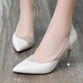 Suede Panel Stiletto Heels