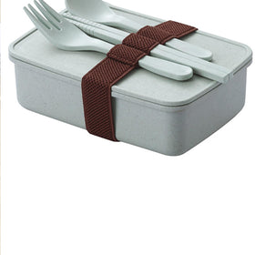 Lunch Box 1pc With Dinnerware Set 3pcs