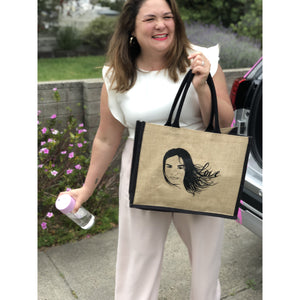 Emmylou Loves Shopping Jute Bag- FREE SHIPPING - ($10 WITH ANY 2 ITEMS)