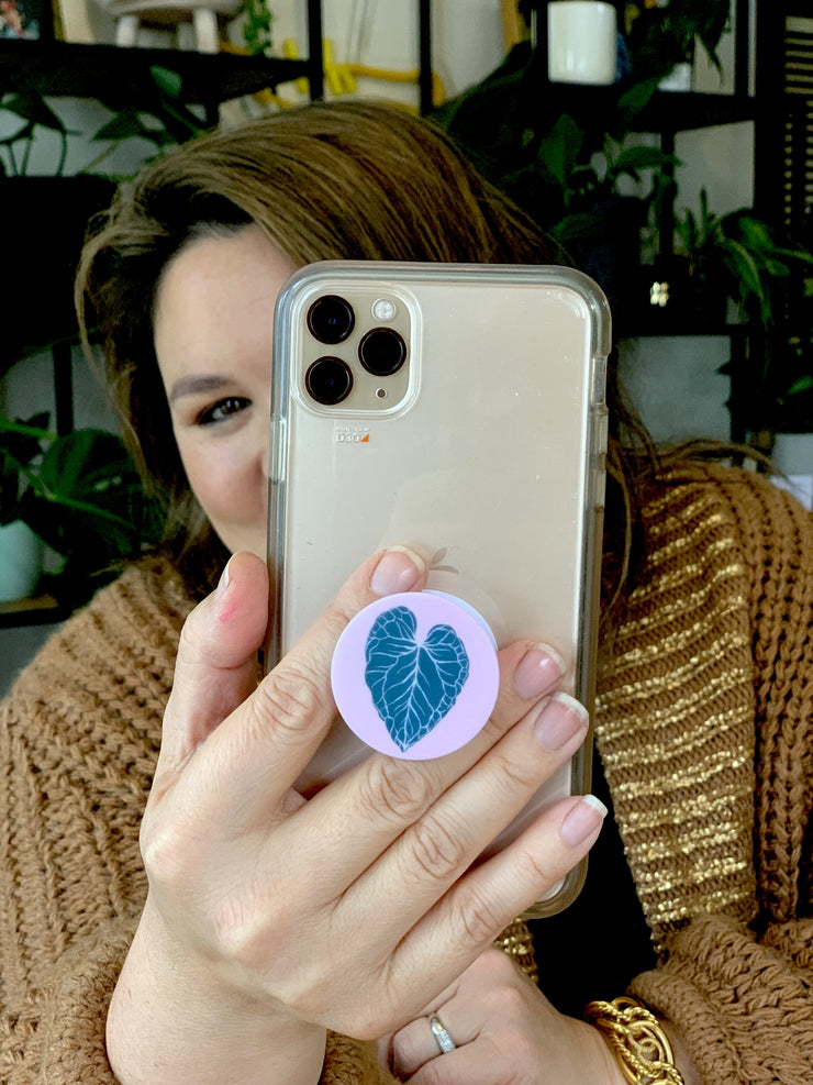 """I Heart Plants"" Phone Pop Socket"
