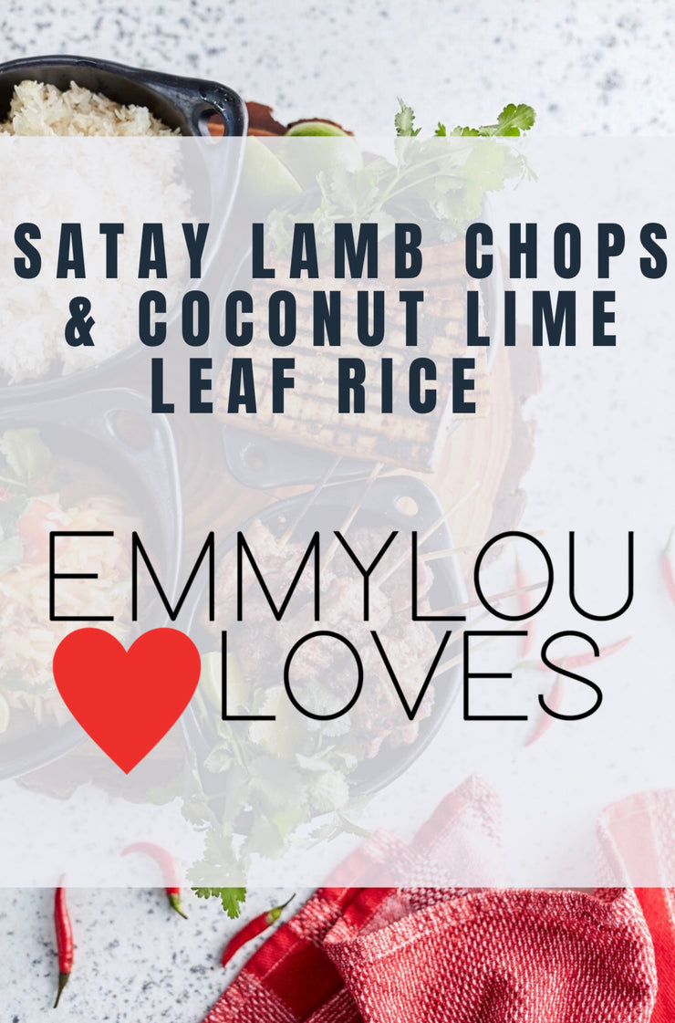 Satay Lamb Chops & Coconut Lime Leaf Rice