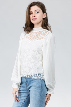 Palm Tree Lace Blouse
