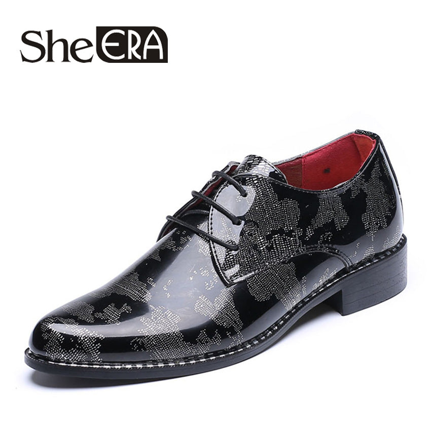 d3e82acc06 New Fashion Luxury Men Leather Shoes Patent Leather Pointed Toe ...