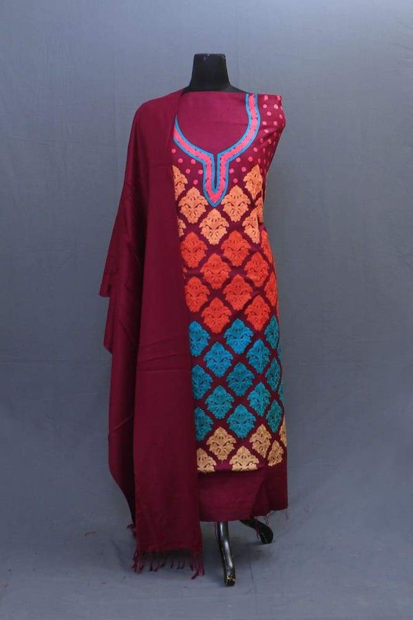 With The Base Of Maroon Colour These Allover Multicolour