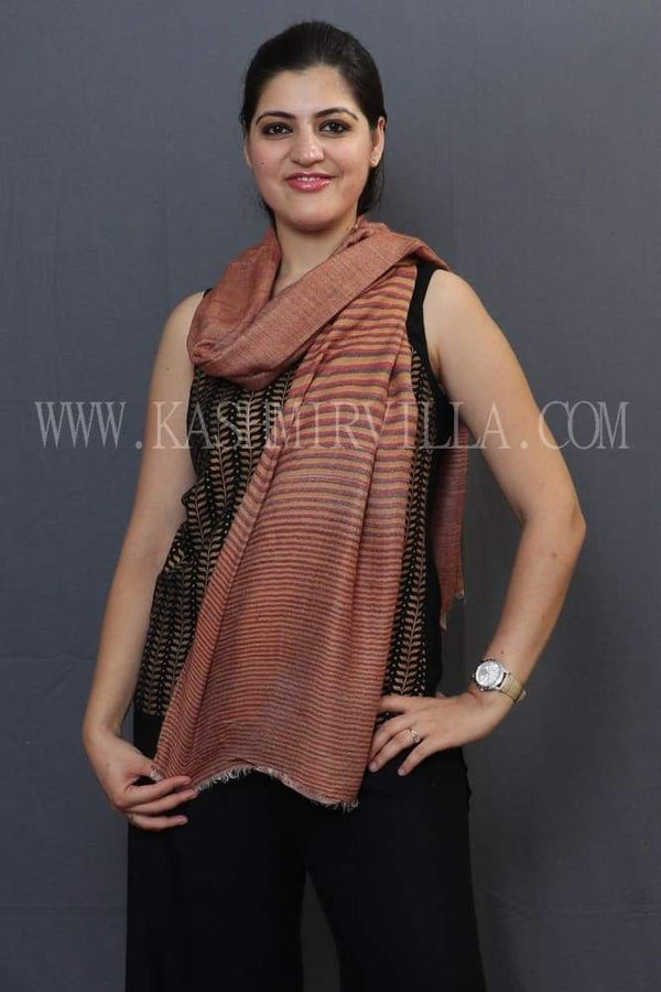 Beige Colour Reversible Shawl With Beautiful One Sided