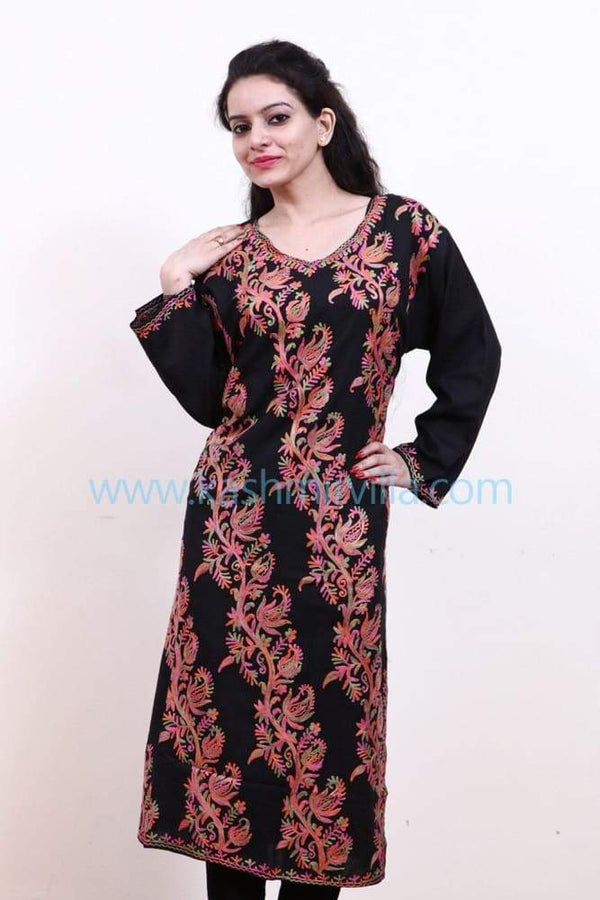 Black Colour Cotton Kurti Gives Trendy Look With Bail