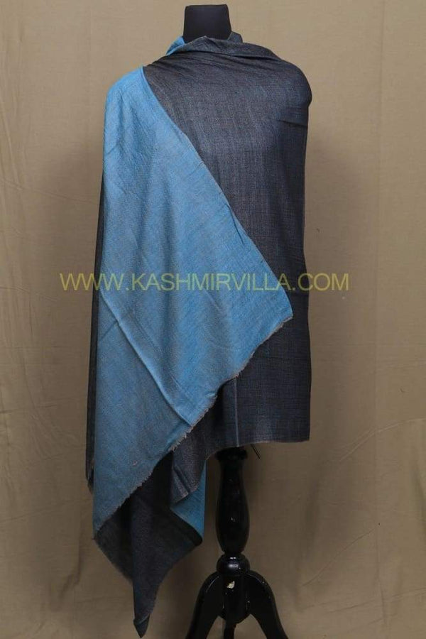 Blue And Turquoise Colour Reversible Pashmina Shawl.
