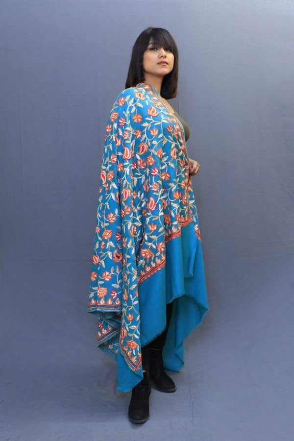 Ferozi Colour Shawl With Amazing All Over Jaal Is A Perfect