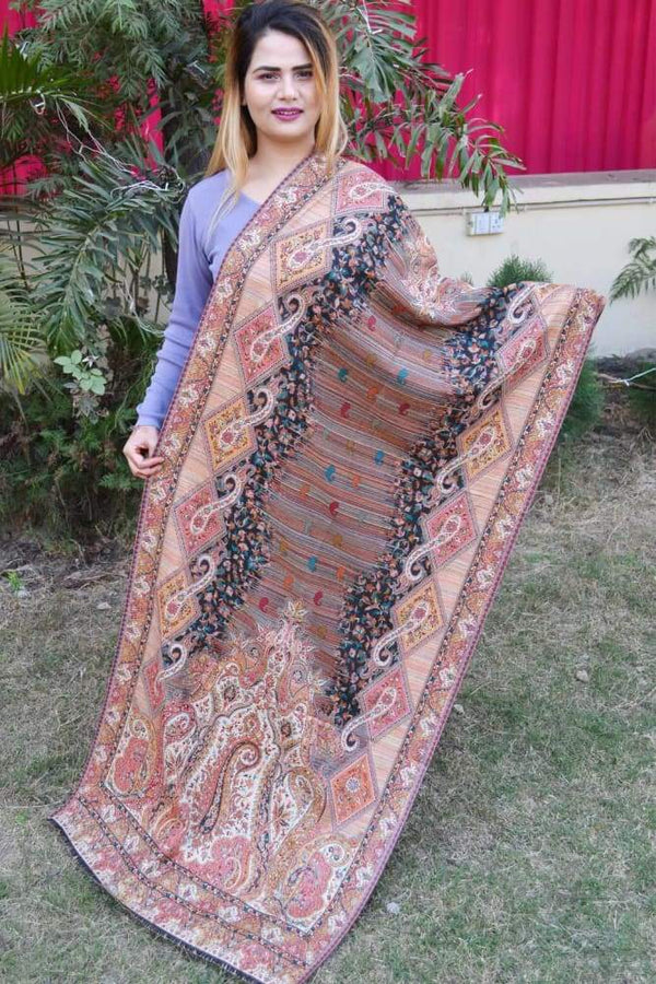 Multi Color Kashmiri Kani Work Stole