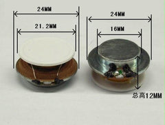 2 Pz 1 Pollici Audio Portatile Gamma Completa 2 W 4Ohm 24 MM Vibration Resonance Speaker