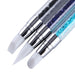 3 pz/set 2 Modi Chiodo Del Silicone Scultura Pen Set Acrylic Liquid polvere Immagine 3D Carving FAI DA TE Spazzola Strass Perline Dot Pick Up