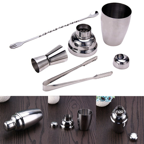 4 Pz 250 ml In Acciaio Inox Martini Cocktail Shaker Bar Strumenti di Vino Shaker Martini Drink Mixer Bartender Vino Shaker Strumenti