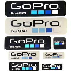 9 pz/lotto Gopro Eroe Camera Sticker Icon Adesivo Adesivi Go Pro Logo per Gopro 5/4/3 + accessori Casco Selfie Stick