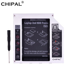 CHIPAL Alluminio PATA IDE a SATA 2nd HDD Caddy 12.7mm 2.5