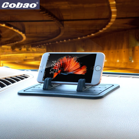 Coabo Universale Car Silicone Morbido Mobile Phone Holder Stand Supporto GPS Per iPhone SAMSUNG & Silicone anti-skid pad per Smartphone