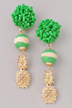 Pineapple Earrings - For Sure Fashion Boutique