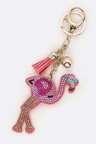 Pink Flamingo Keychain - For Sure Fashion Boutique