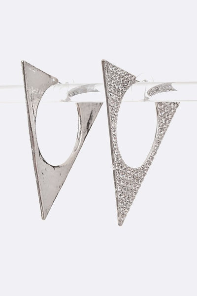 Crystal Iconic Triangle Earrings