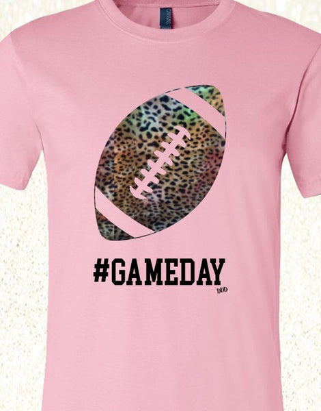 #GameDay Football Pink Tee