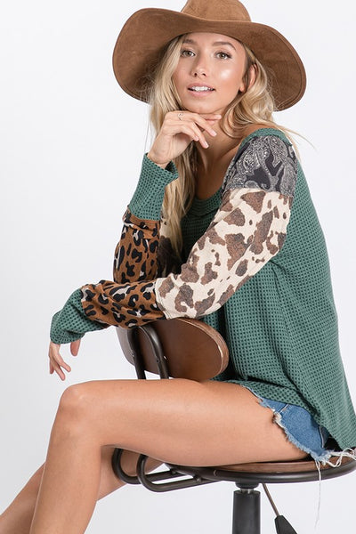 Cowgirl Long-Sleeve Tee - For Sure Fashion Boutique