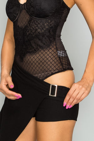 Load image into Gallery viewer, Mesh Lace Bodysuit - For Sure Fashion Boutique