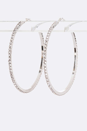 Bling Hoop Earrings - For Sure Fashion Boutique