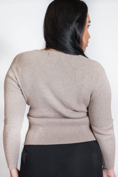 Cross Wrap Sweater - For Sure Fashion Boutique