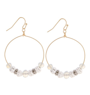 Rock Hoop Earrings - For Sure Fashion Boutique