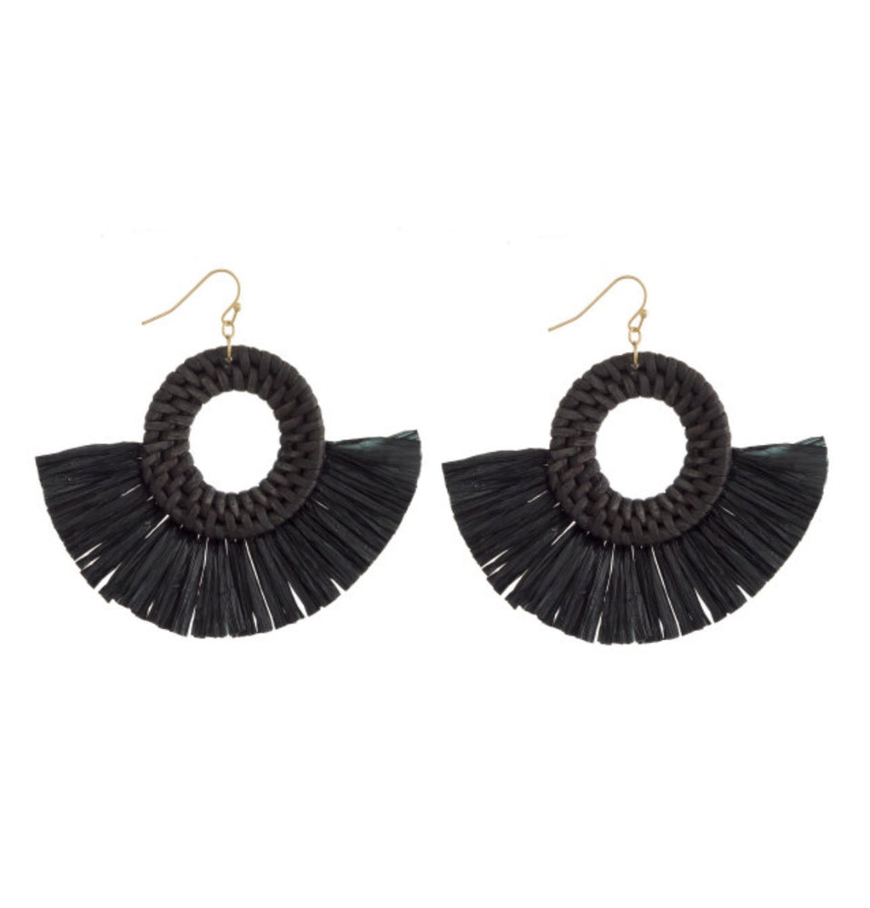 Black Fringe Earrings - For Sure Fashion Boutique
