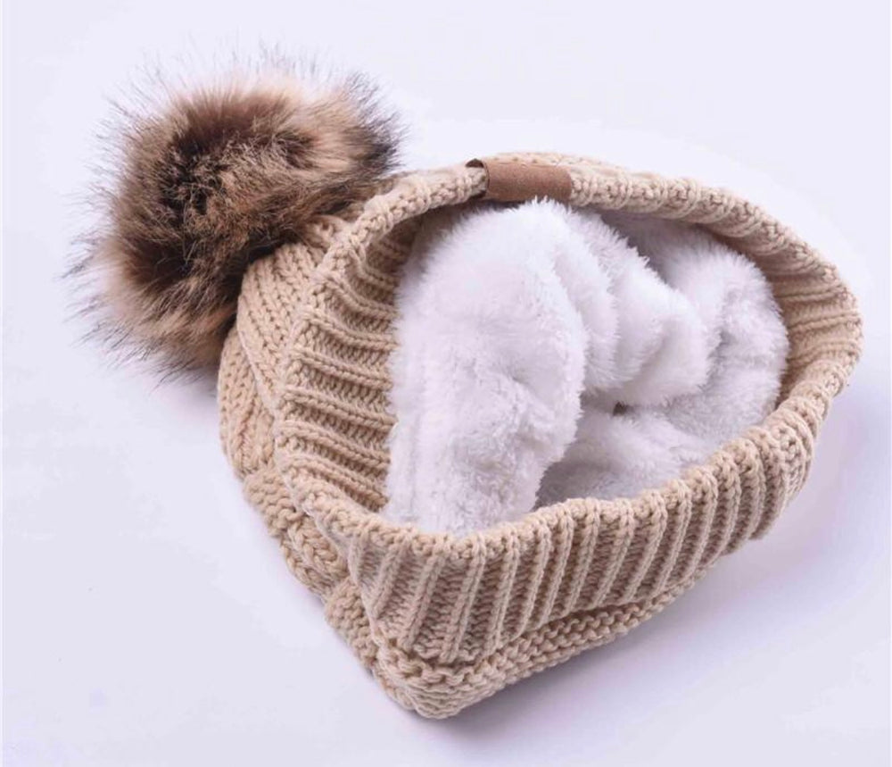 Load image into Gallery viewer, Pom-Pom Winter Hat - For Sure Fashion Boutique