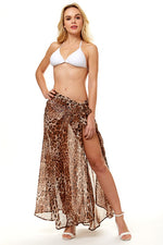 Meow Maxi Cover Up Skirt - For Sure Fashion Boutique