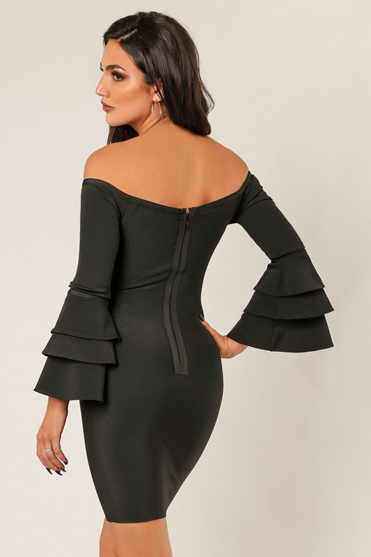 Midnight Bandage Dress - For Sure Fashion Boutique