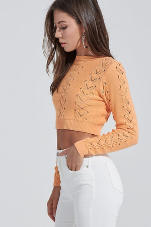Orange Popsicle Crop-Top - For Sure Fashion Boutique