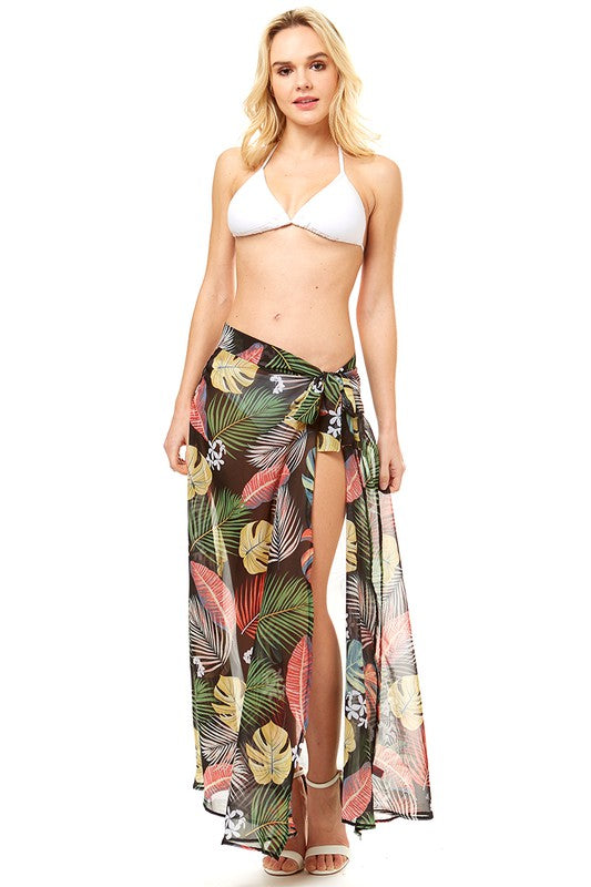 Palm Maxi Cover Up Skirt