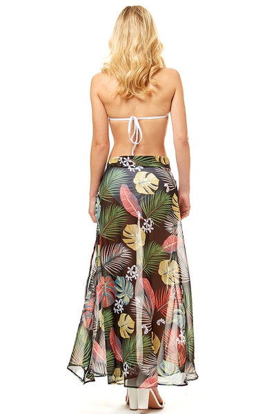 Palm Maxi Cover Up Skirt - For Sure Fashion Boutique