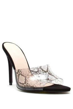 Load image into Gallery viewer, Snake Skin Heel - For Sure Fashion Boutique